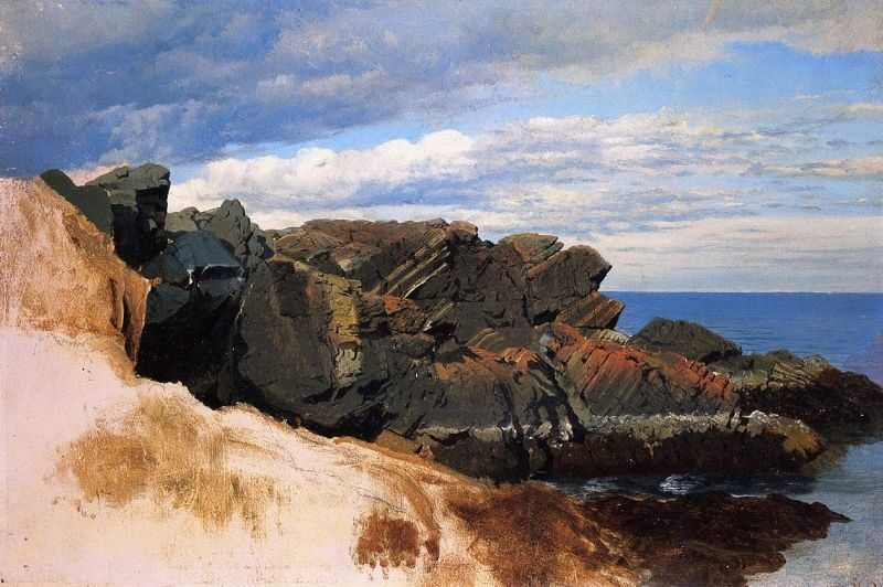 William Bradford Rock Study at Nahant, Massachusetts
