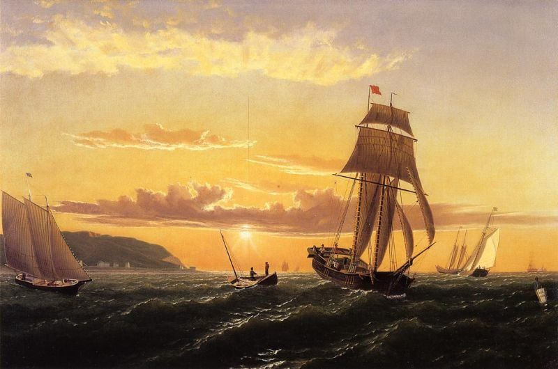 William Bradford Sunrise on the Bay of Fundy