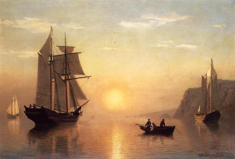 William Bradford Sunset Calm in the Bay of Fundy