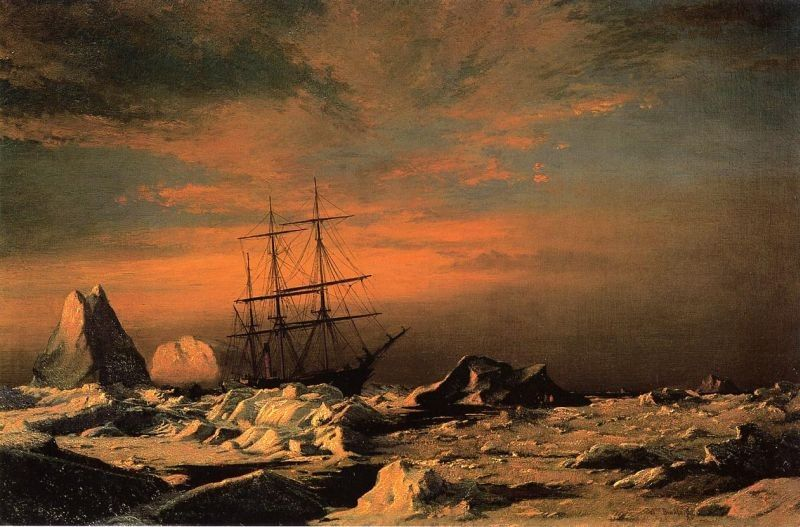 William Bradford The 'Panther' Among the Icebergs in Melville Bay