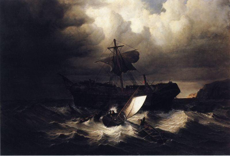William Bradford The Wreck of an Emigrant Ship on the Coast of New England