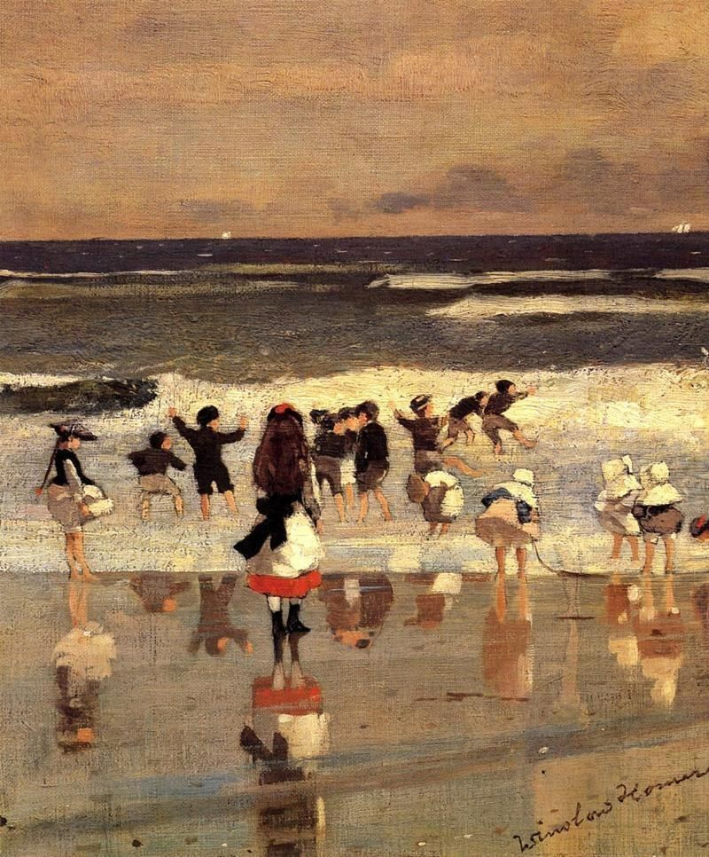 Winslow Homer Beach Scene