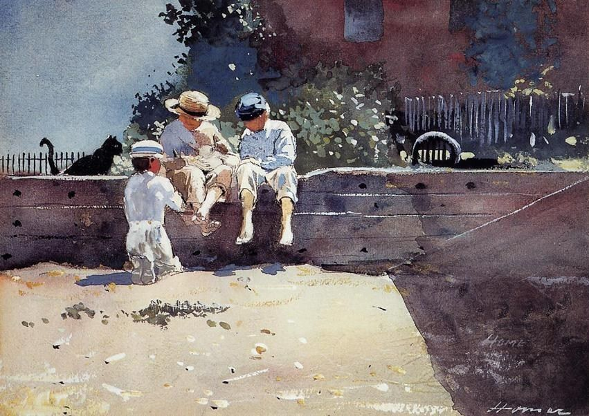 Winslow Homer Boys and Kitten
