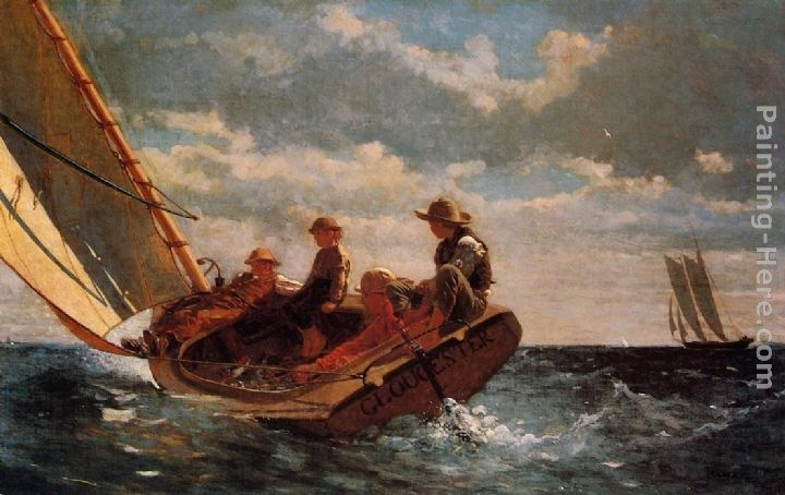 Winslow Homer Breezing Up