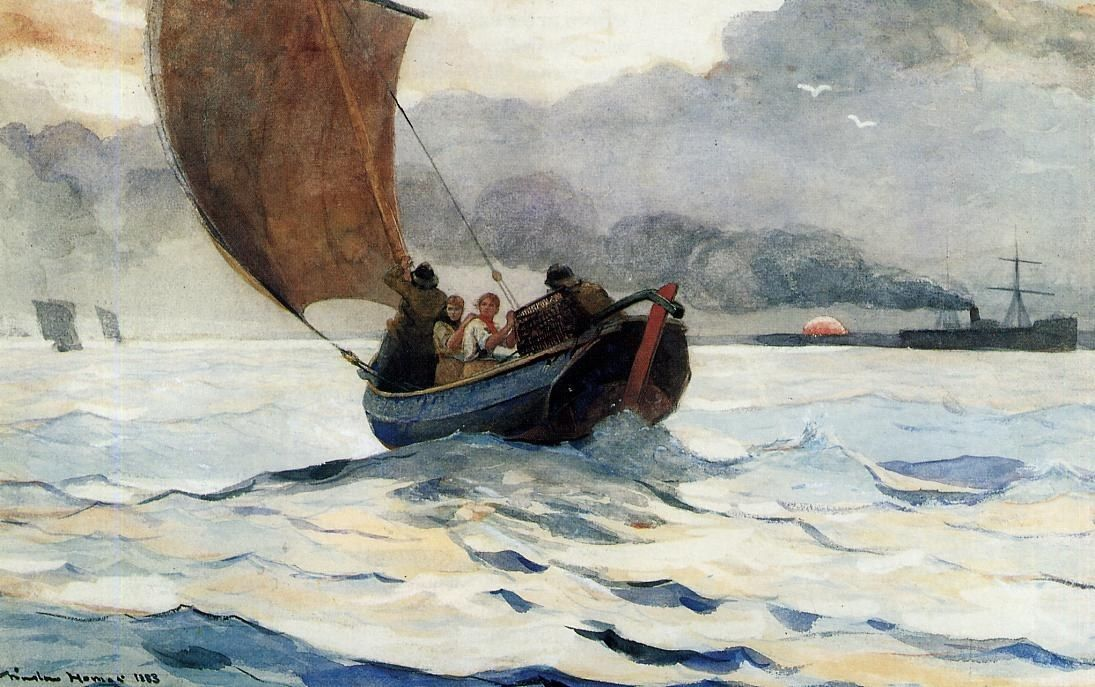 Winslow Homer Returning Fishing Boats