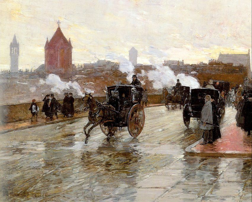 childe hassam Clearing Sunset