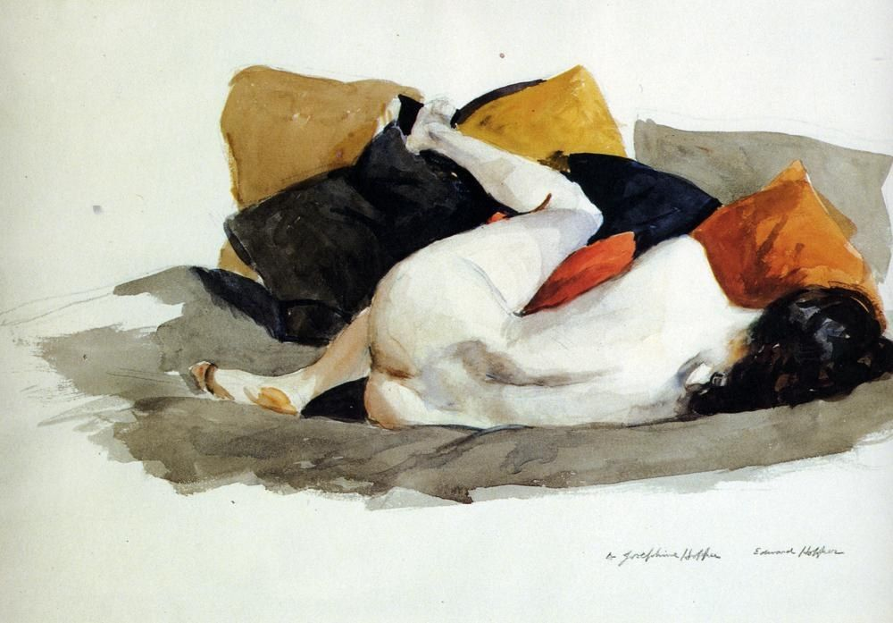 Edward Hopper Reclining Nude