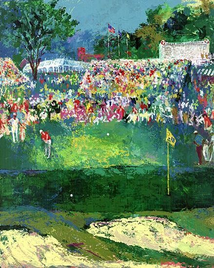 Leroy Neiman Bethpage Black Course 2002 u.s. Open