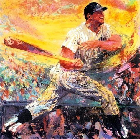 Leroy Neiman Mickey Mantle