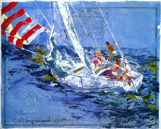 Leroy Neiman Nantucket Sailing
