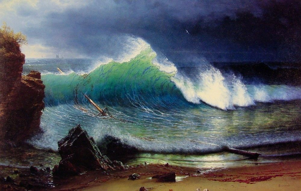 Albert Bierstadt The Shore of the Turquoise Sea