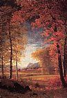 Albert Bierstadt Autumn in America Oneida County New York painting