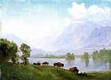 Albert Bierstadt Buffalo Country painting