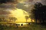 Albert Bierstadt The Buffalo Trail painting