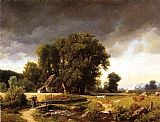 Landscape paintings - Westphalian Landscape by Albert Bierstadt