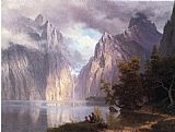 Albert Bierstadt Scene in the Sierra Nevada painting