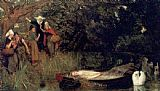 lady in pink Paintings - The Lady of Shalott