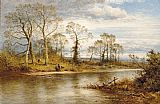 Benjamin Williams Leader An English River in Autumn painting