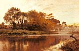 Benjamin Williams Leader The Last Gleam, Wargrave on Thames painting
