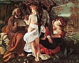 Caravaggio Rest on Flight to Egypt painting