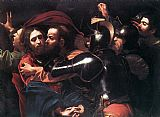 Christ paintings - Taking of Christ by Caravaggio