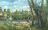 Camille Pissarro Sunlight on the Road - Pontoise painting