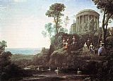 Claude Lorrain Apollo and the Muses on Mount Helion painting
