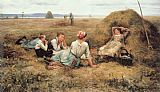 Daniel Ridgway Knight The Harvesters Resting painting