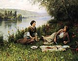 Daniel Ridgway Knight Normandy Garden painting