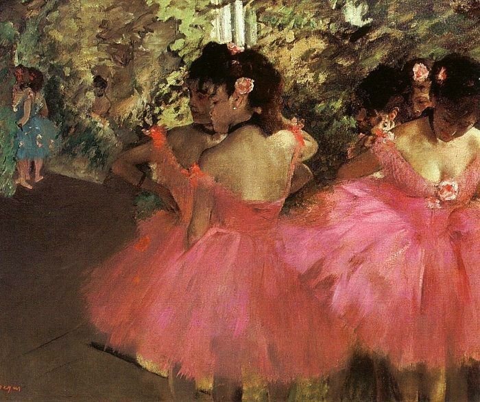 Edgar Degas Dancers in Pink