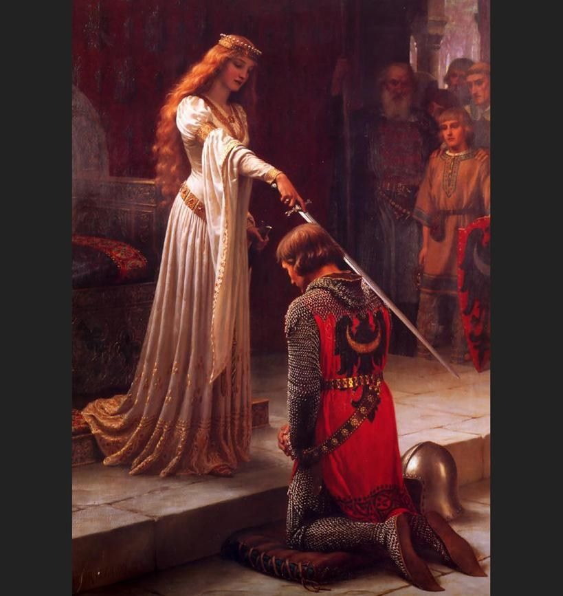 Edmund Blair Leighton The Accolade