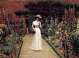 the garden of prayer Paintings - Lady in a Garden