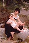 Emile Munier Mother and Child painting