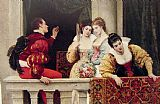 Eugene de Blaas On the Balcony painting