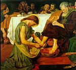 Ford Madox Brown Jesus washing Peter's feet at the Last Supper painting
