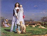 Ford Madox Brown The Pretty Baa-Lambs painting