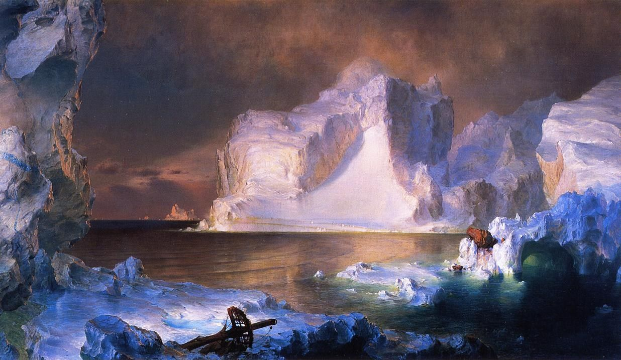 Frederic Edwin Church The Icebergs