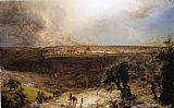 Christ paintings - Jerusalem from the Mount of Olives by Frederic Edwin Church