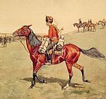 Frederic Remington Hussar Russian Guard Corps painting