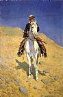Frederic Remington Self Portrait on a Horse painting