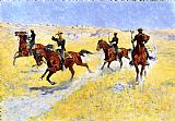 Frederic Remington The Advance painting