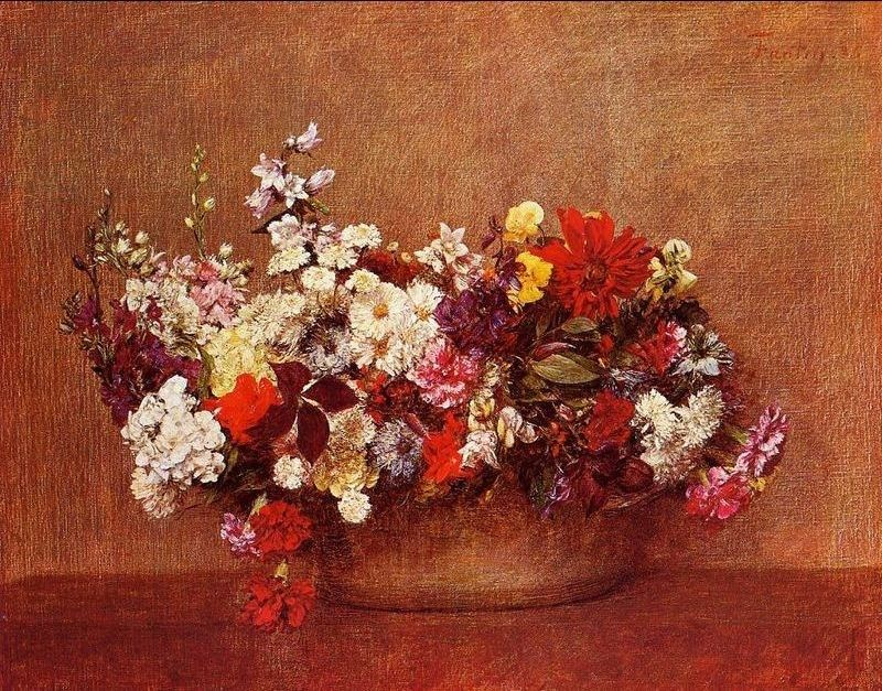 Henri Fantin-Latour Flowers in a Bowl