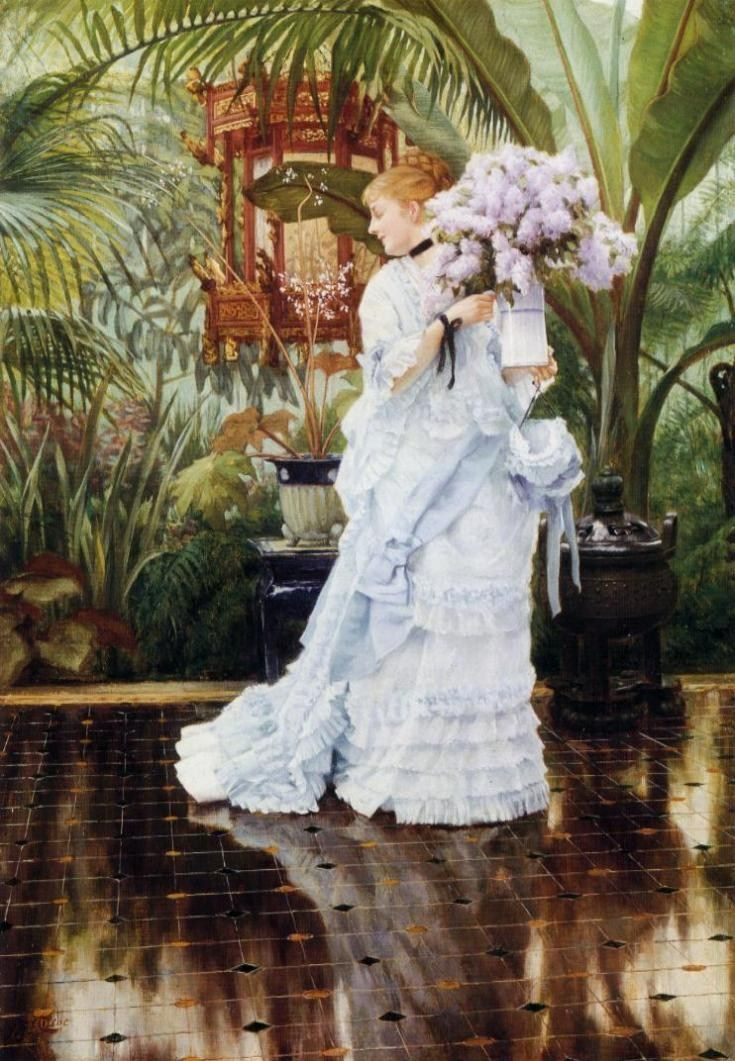 James Jacques Joseph Tissot The Bunch of Violets