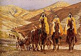 Oriental paintings - Journey of the Magi by James Jacques Joseph Tissot