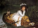James Jacques Joseph Tissot Young Lady in a Boat painting