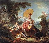 Jean-Honore Fragonard The Musical Contest painting