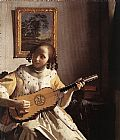 Johannes Vermeer The Guitar Player painting