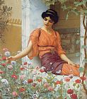 Garden paintings - Summer Flowers by John William Godward