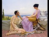 John William Godward Youth and Time painting