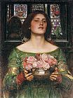 John William Waterhouse Gather Ye Rosebuds while ye may painting